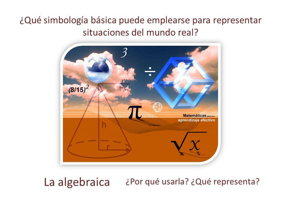 ¿Qué simbología básica puede emplearse para representar situaciones del mundo real