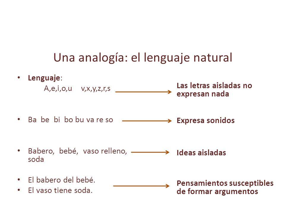 Una analogía: el lenguaje natural