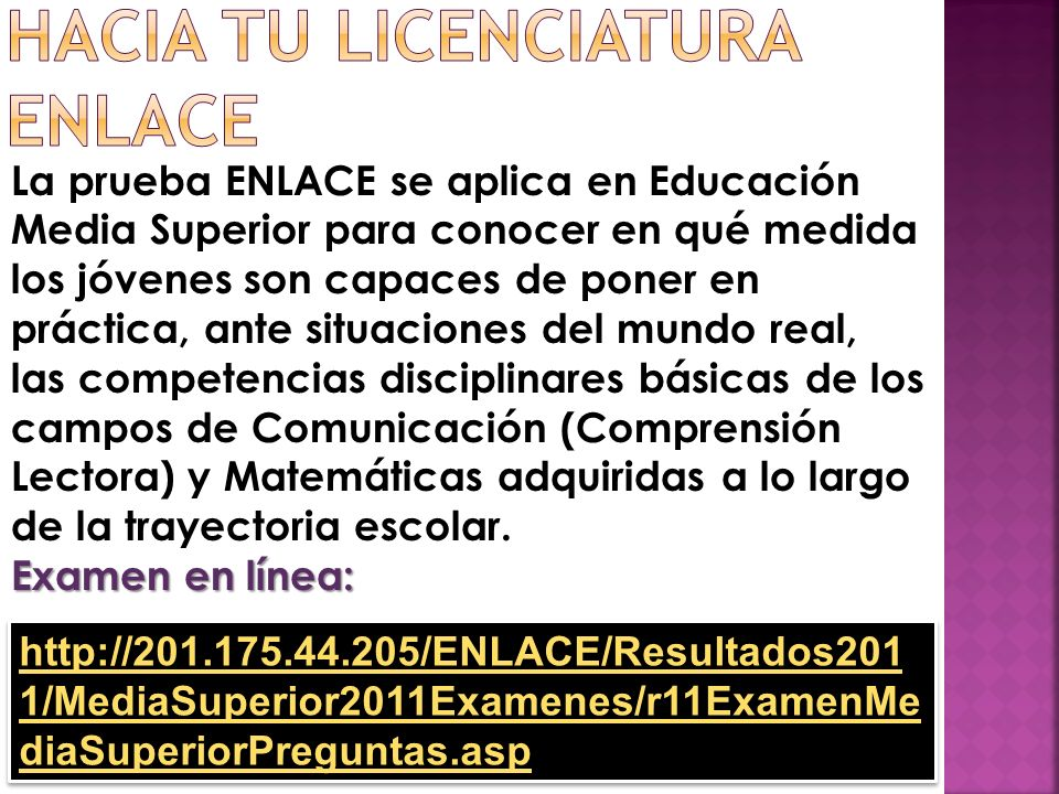 Hacia tu licenciatura ENLACE