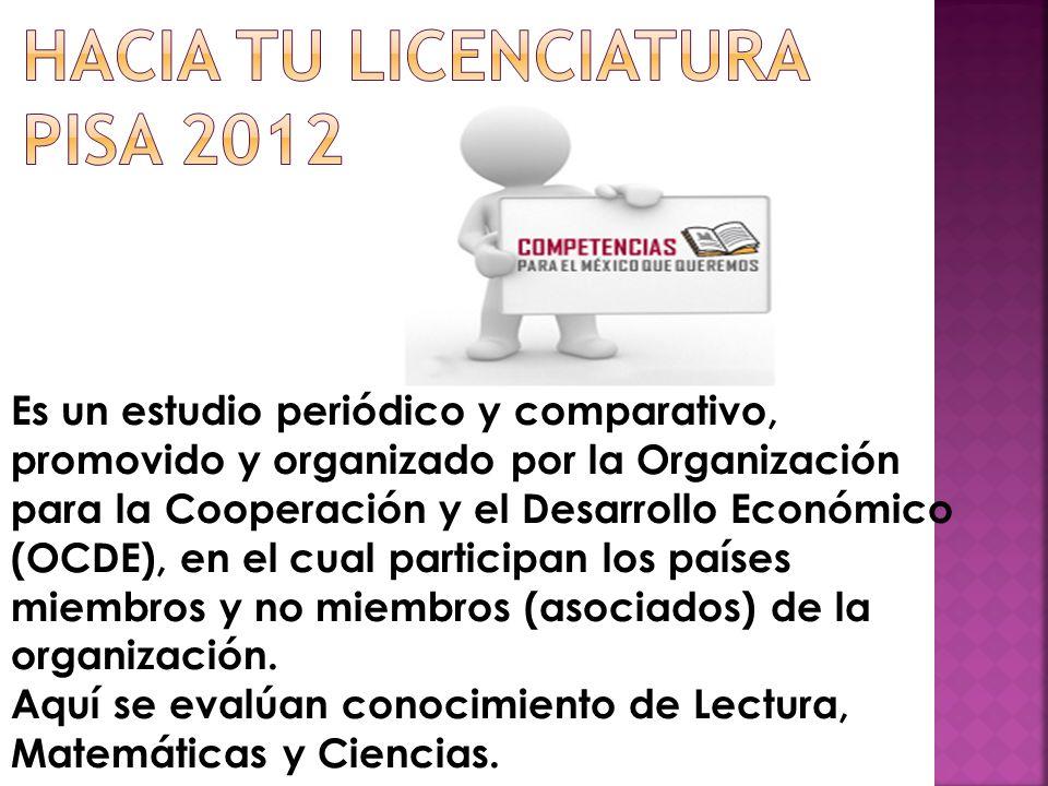Hacia tu licenciatura PISA 2012