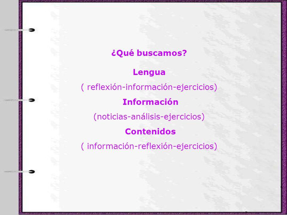 Lengua Información Contenidos