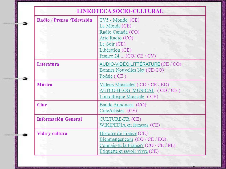 LINKOTECA SOCIO-CULTURAL