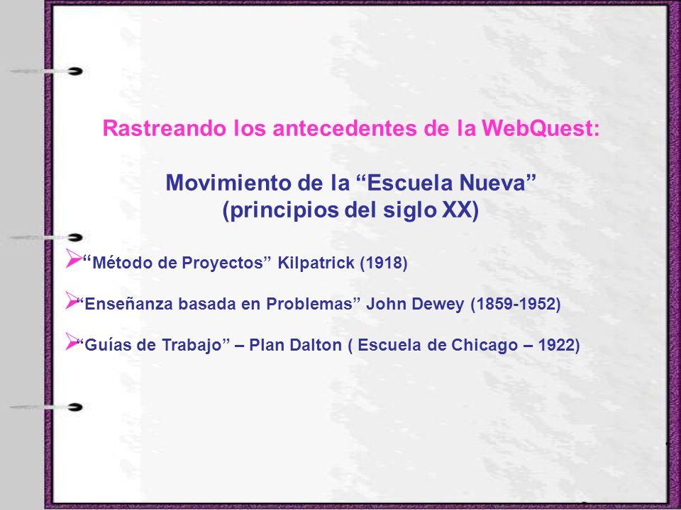 Rastreando los antecedentes de la WebQuest: