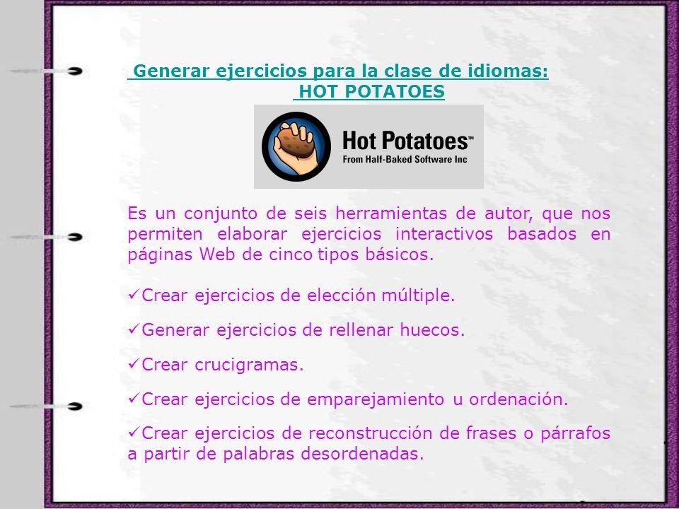 Generar ejercicios para la clase de idiomas: