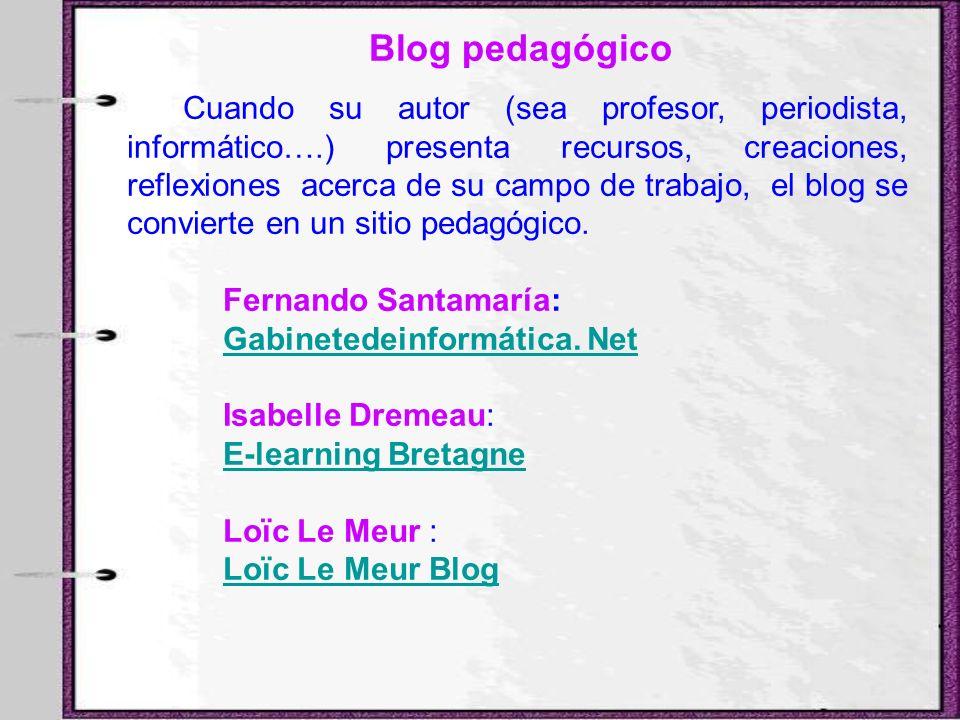 Blog pedagógico