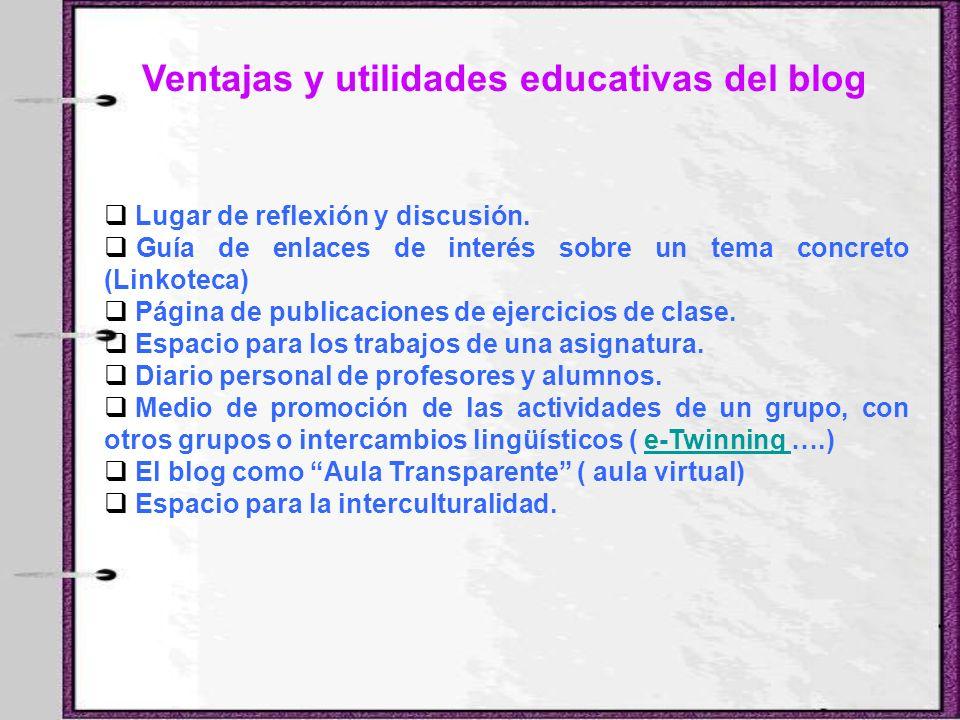 Ventajas y utilidades educativas del blog