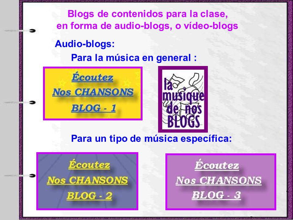 Blogs de contenidos para la clase,