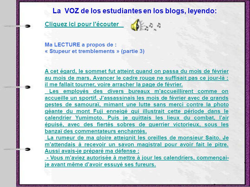 La VOZ de los estudiantes en los blogs, leyendo: