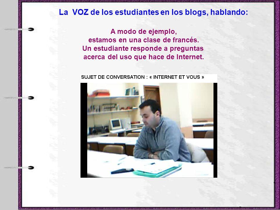 La VOZ de los estudiantes en los blogs, hablando: