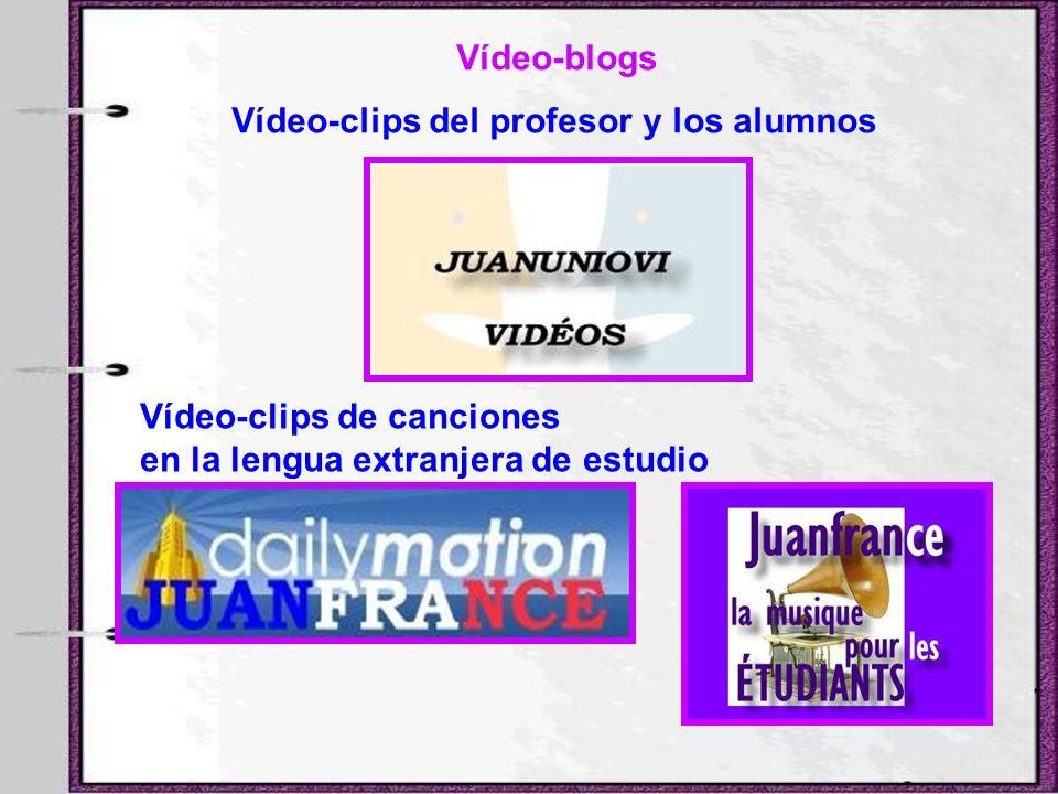 Vídeo-clips del profesor y los alumnos