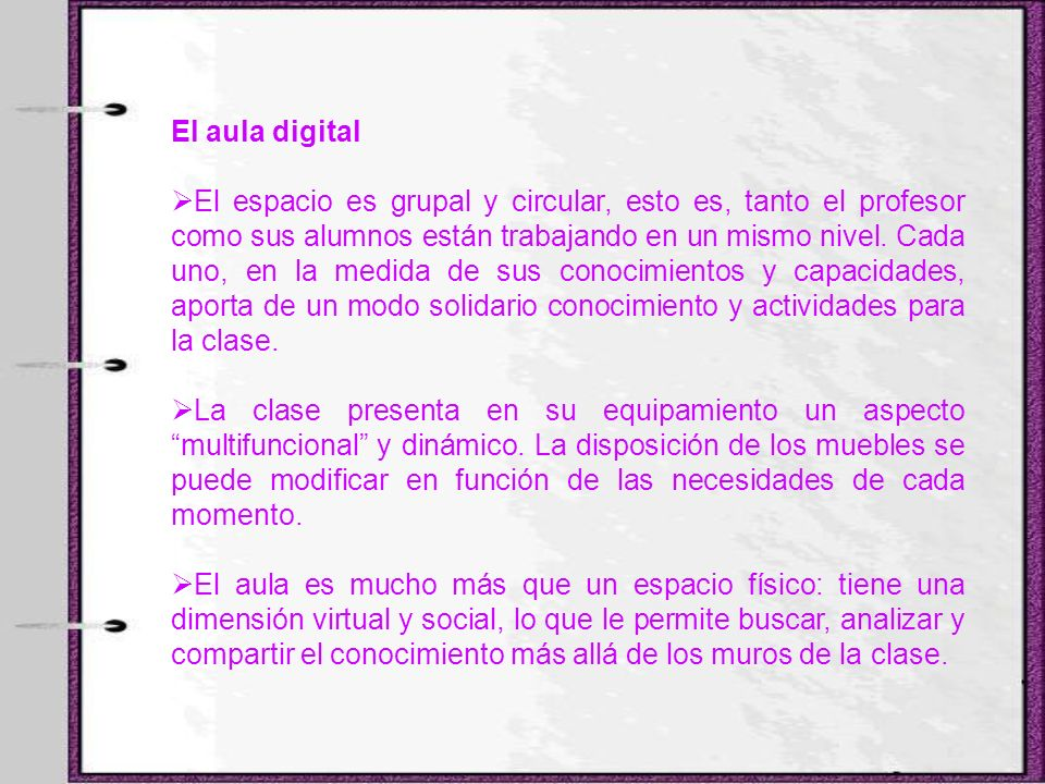 El aula digital