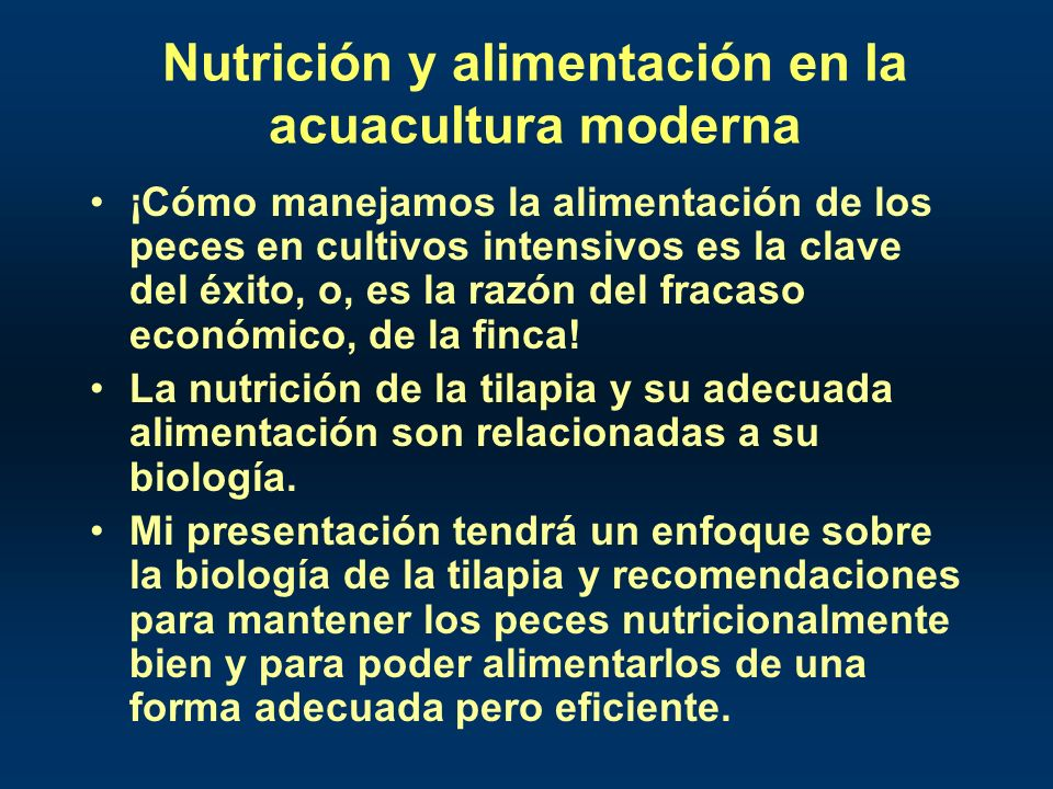 Nutrición y alimentación en la acuacultura moderna