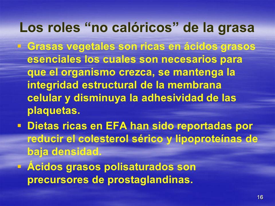 Los roles no calóricos de la grasa