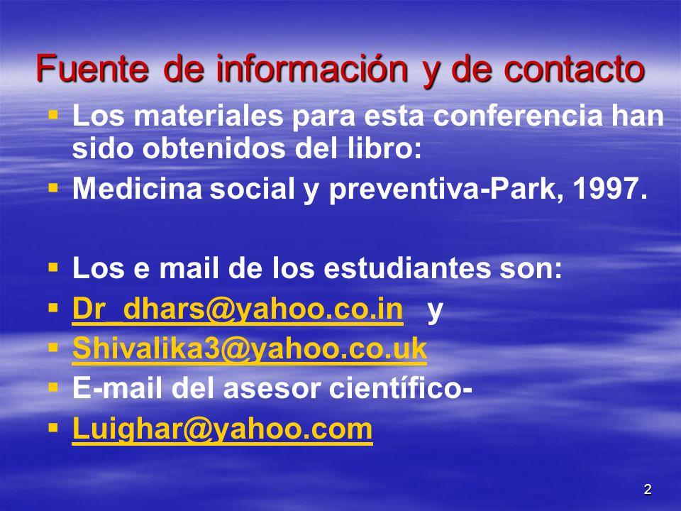 Fuente de información y de contacto