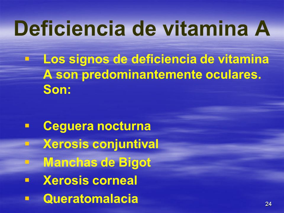 Deficiencia de vitamina A