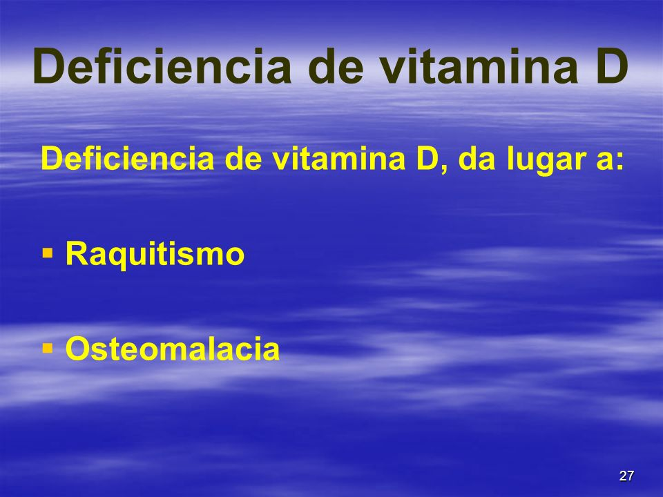 Deficiencia de vitamina D