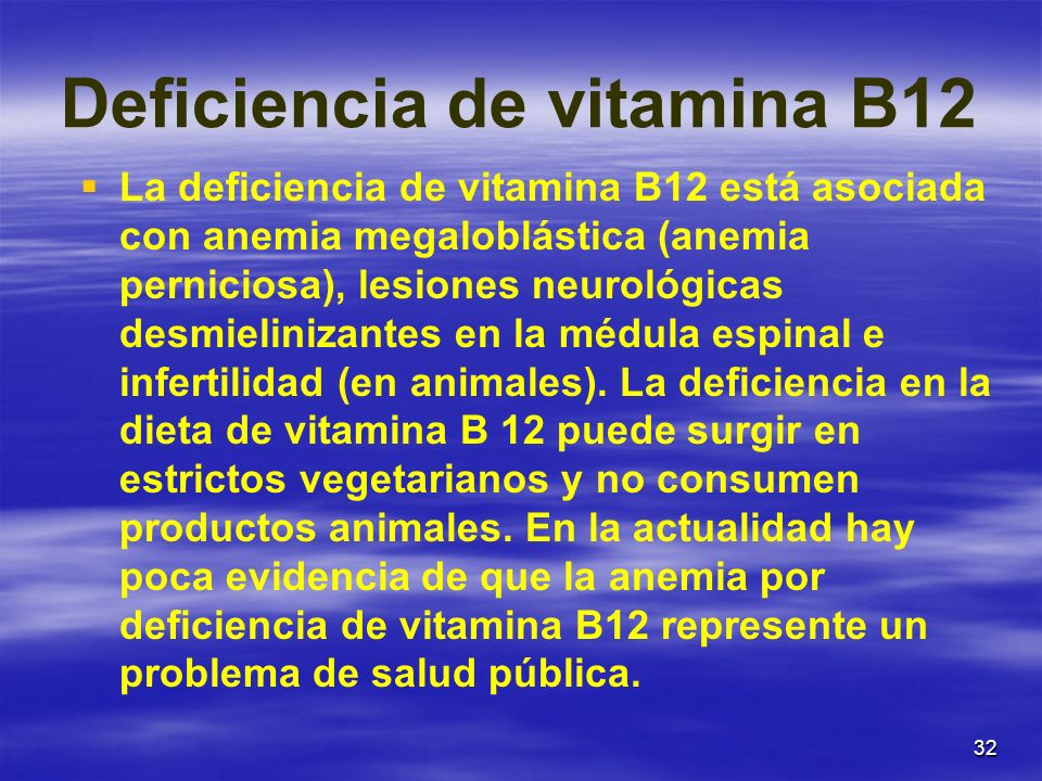 Deficiencia de vitamina B12