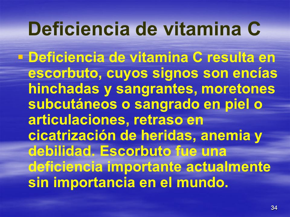 Deficiencia de vitamina C