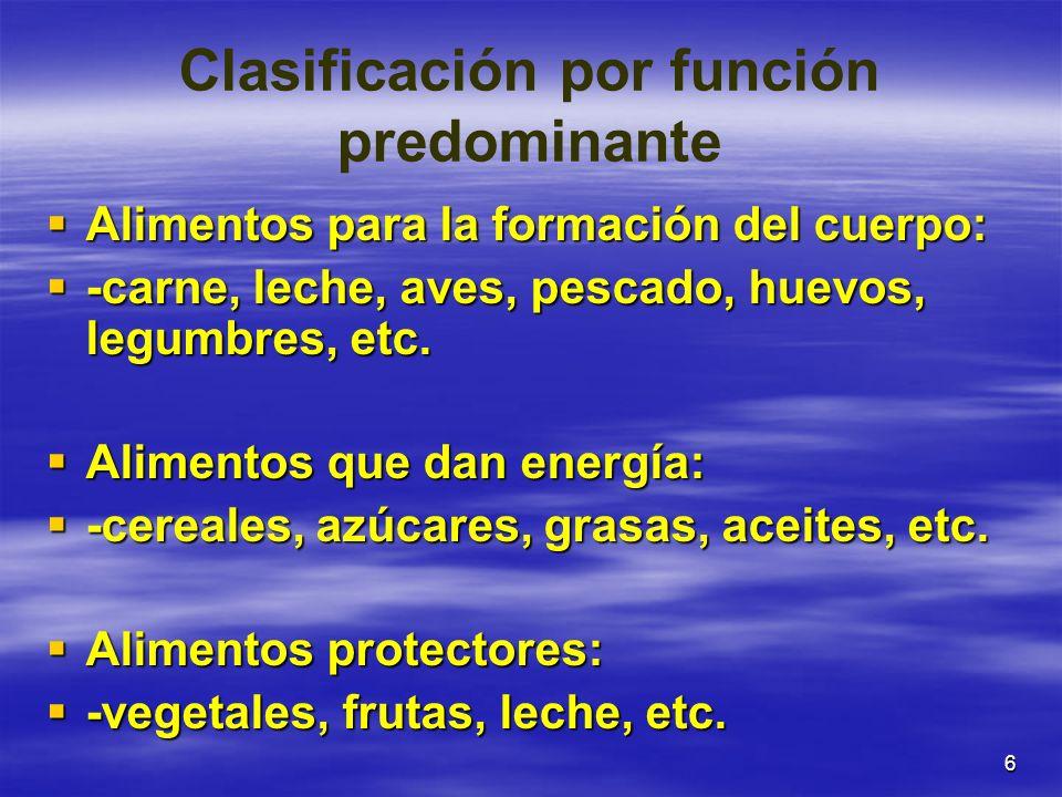 Clasificación por función predominante