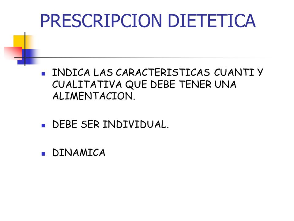 PRESCRIPCION DIETETICA