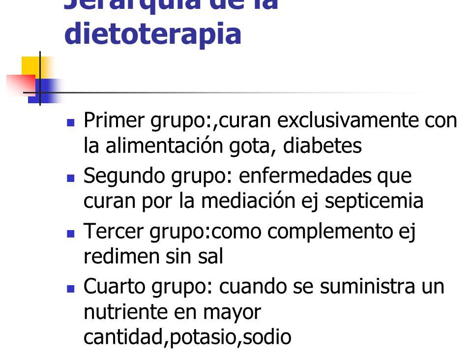 Jerarquía de la dietoterapia