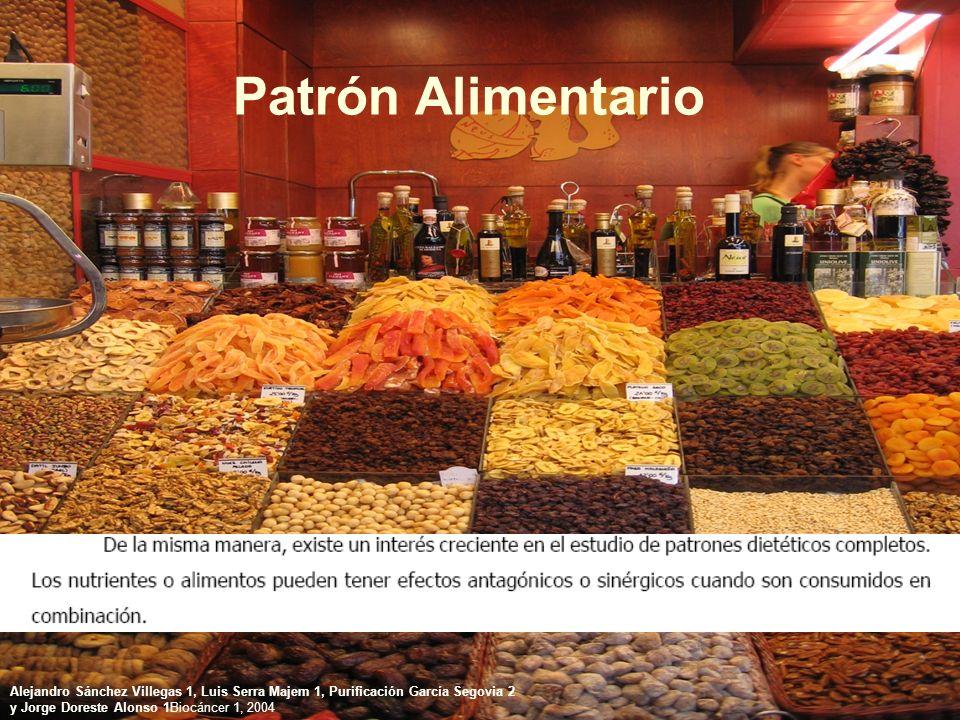 Patrón Alimentario Alejandro Sánchez Villegas 1, Luis Serra Majem 1, Purificación García Segovia 2.