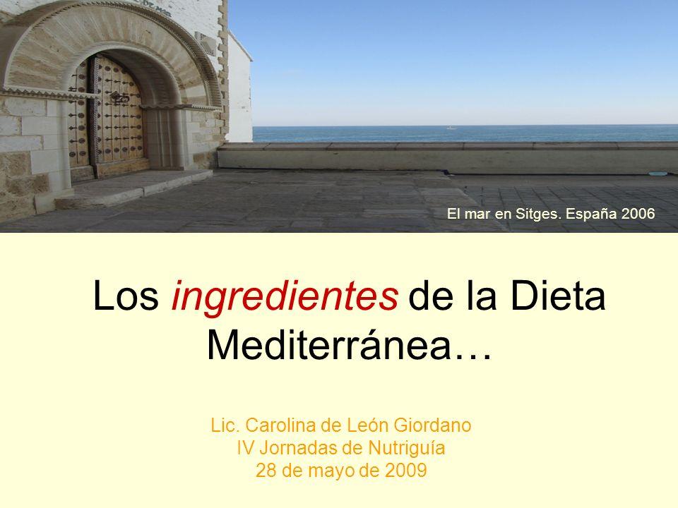 Los ingredientes de la Dieta Mediterránea…