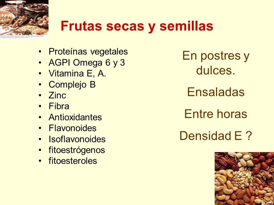 Frutas secas y semillas