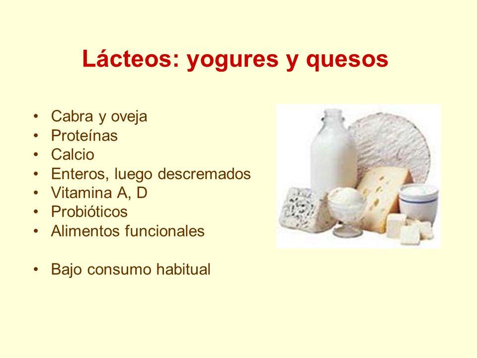 Lácteos: yogures y quesos