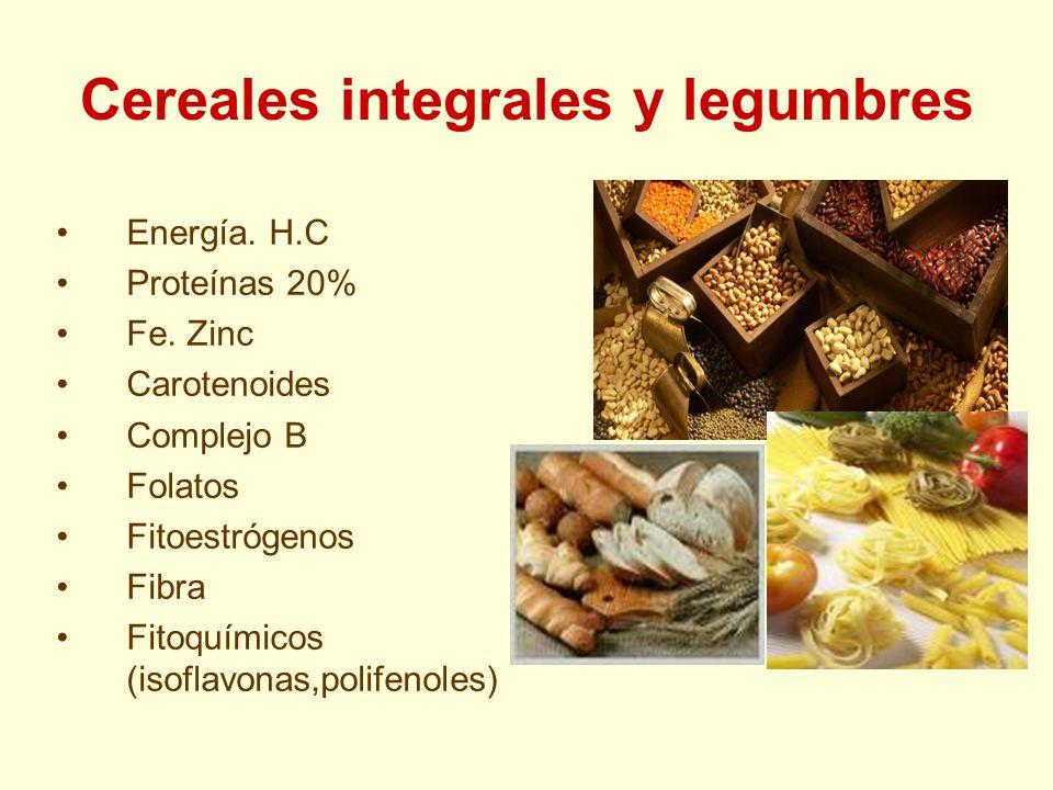 Cereales integrales y legumbres