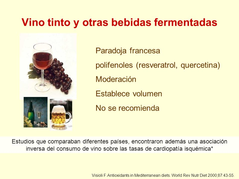 Vino tinto y otras bebidas fermentadas