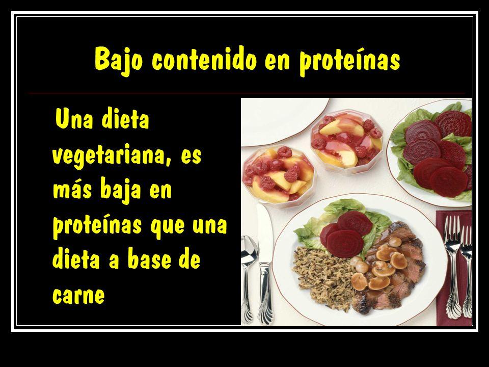 Bajo contenido en proteínas