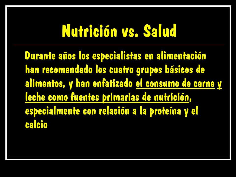 Nutrición vs. Salud