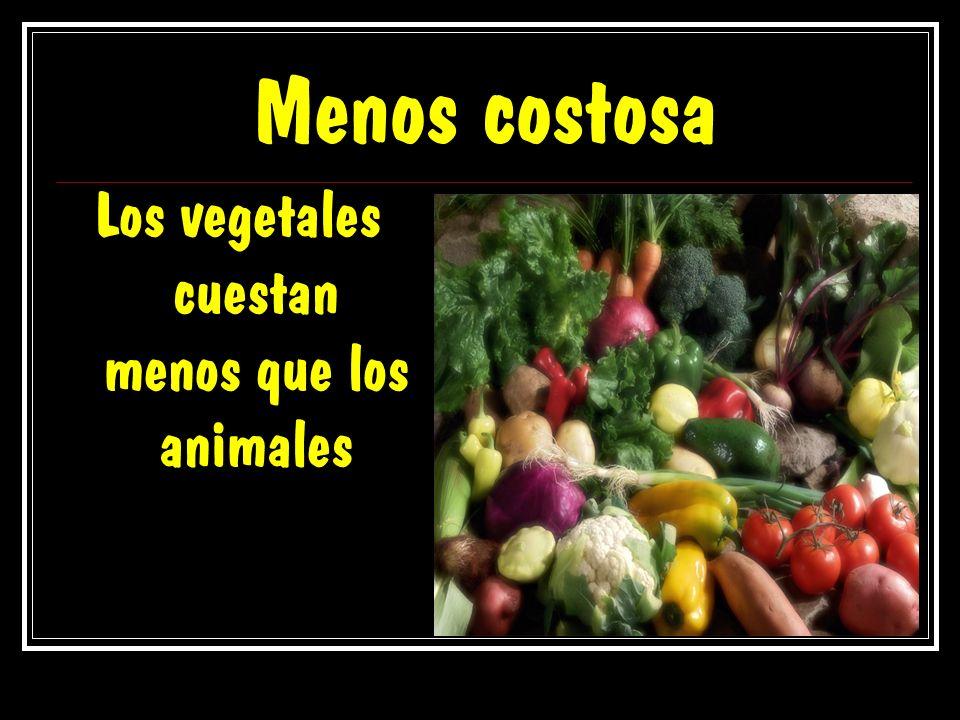 Los vegetales cuestan menos que los animales