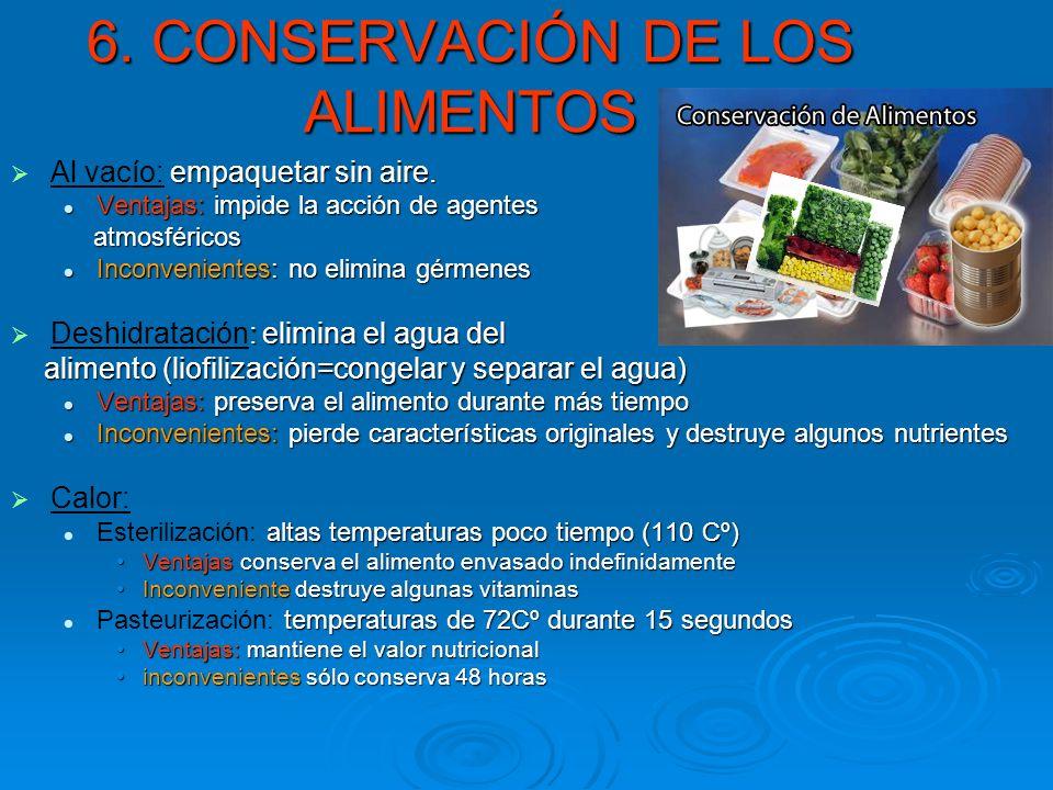 6. CONSERVACIÓN DE LOS ALIMENTOS