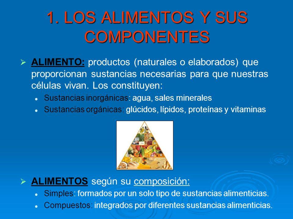 1. LOS ALIMENTOS Y SUS COMPONENTES