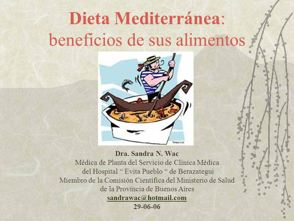 Dieta Mediterránea: beneficios de sus alimentos