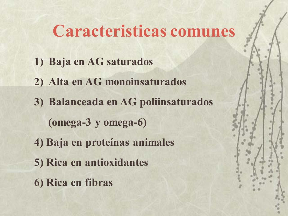 Caracteristicas comunes