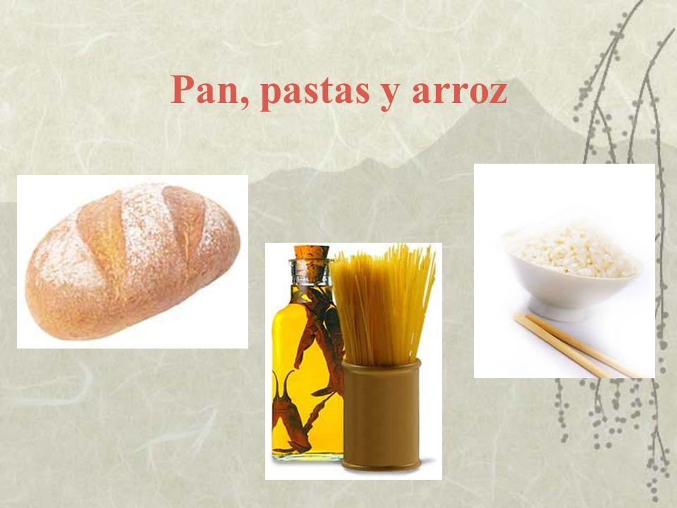 Pan, pastas y arroz