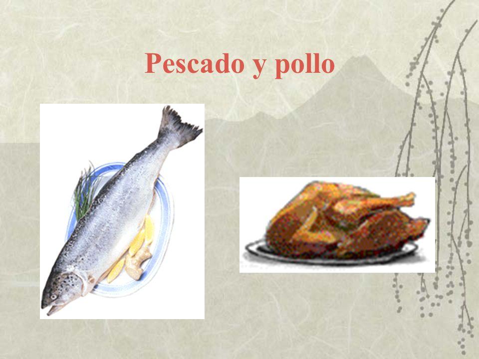 Pescado y pollo