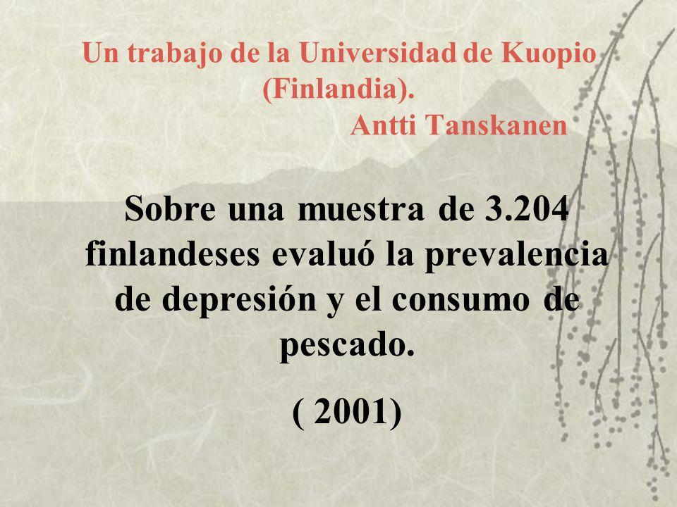 Un trabajo de la Universidad de Kuopio (Finlandia). Antti Tanskanen