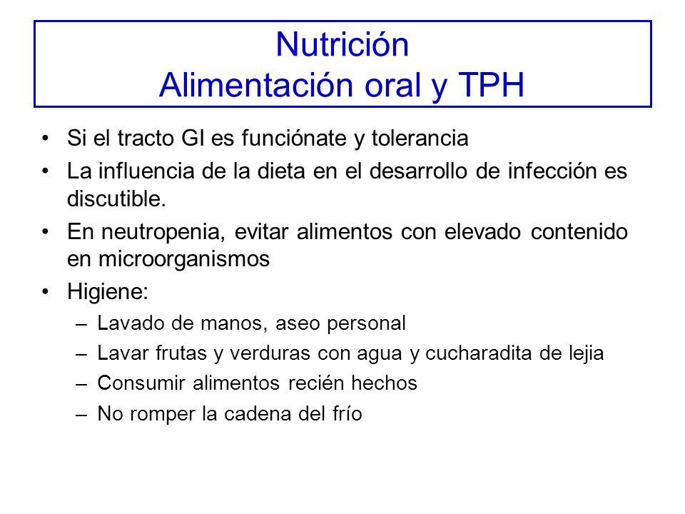Nutrición Alimentación oral y TPH