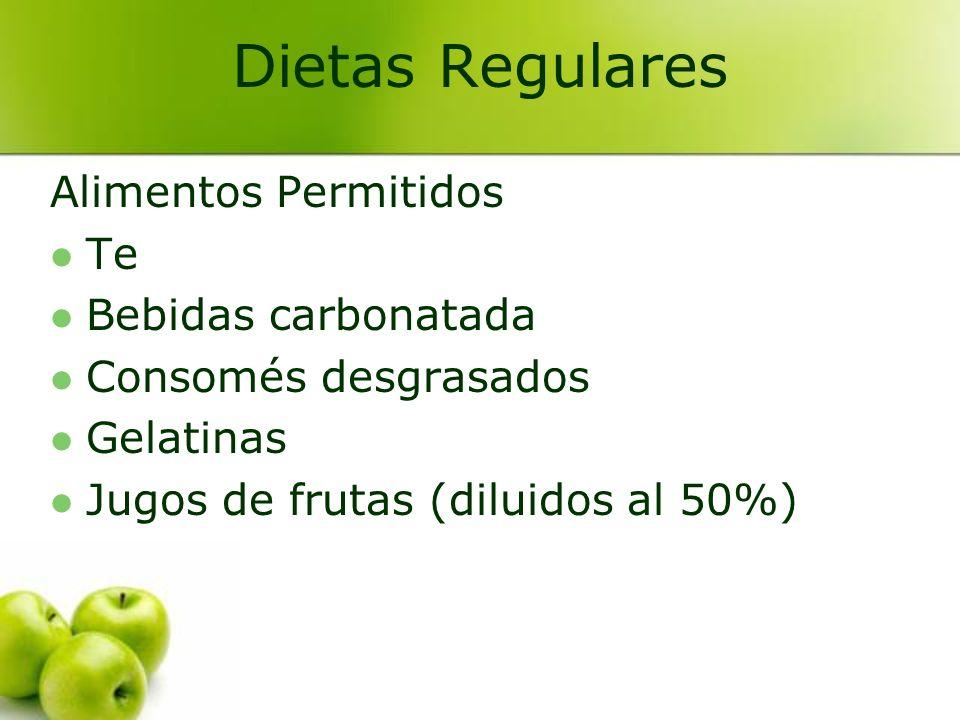 Dietas Regulares Alimentos Permitidos Te Bebidas carbonatada