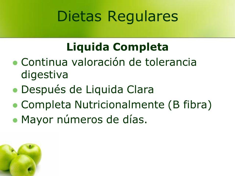 Dietas Regulares Liquida Completa
