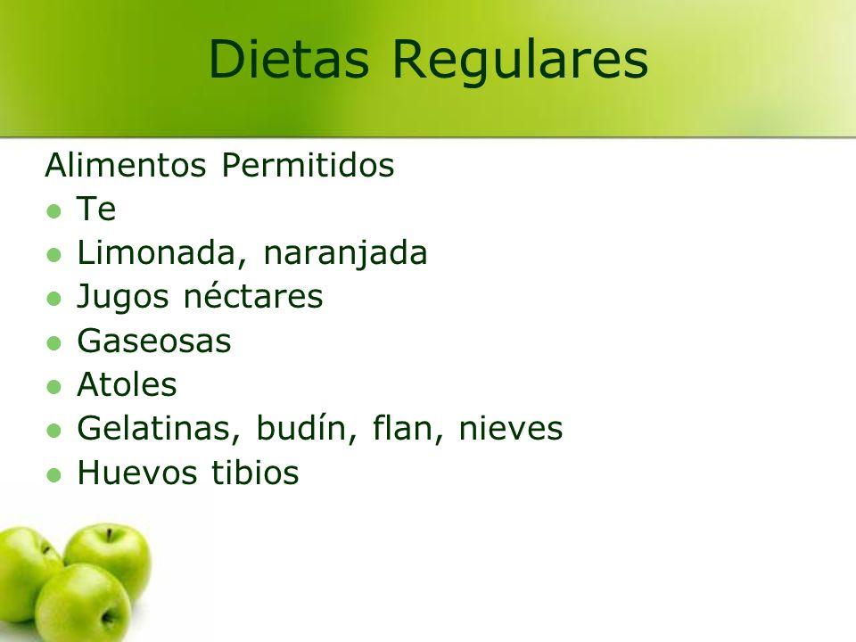 Dietas Regulares Alimentos Permitidos Te Limonada, naranjada