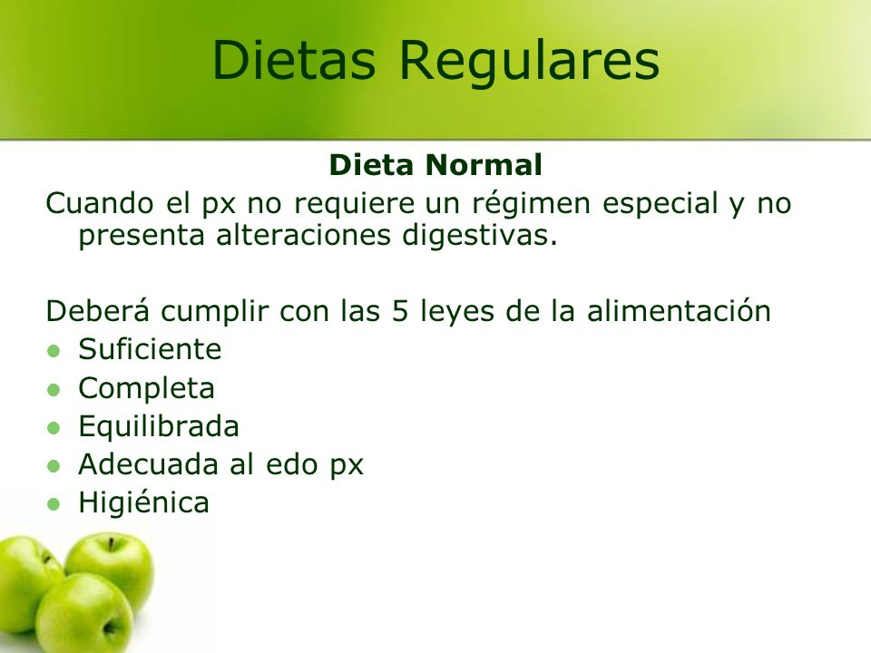 Dietas Regulares Dieta Normal