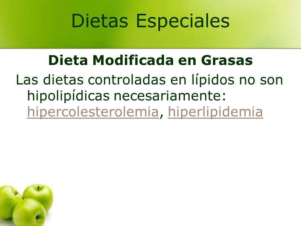 Dieta Modificada en Grasas