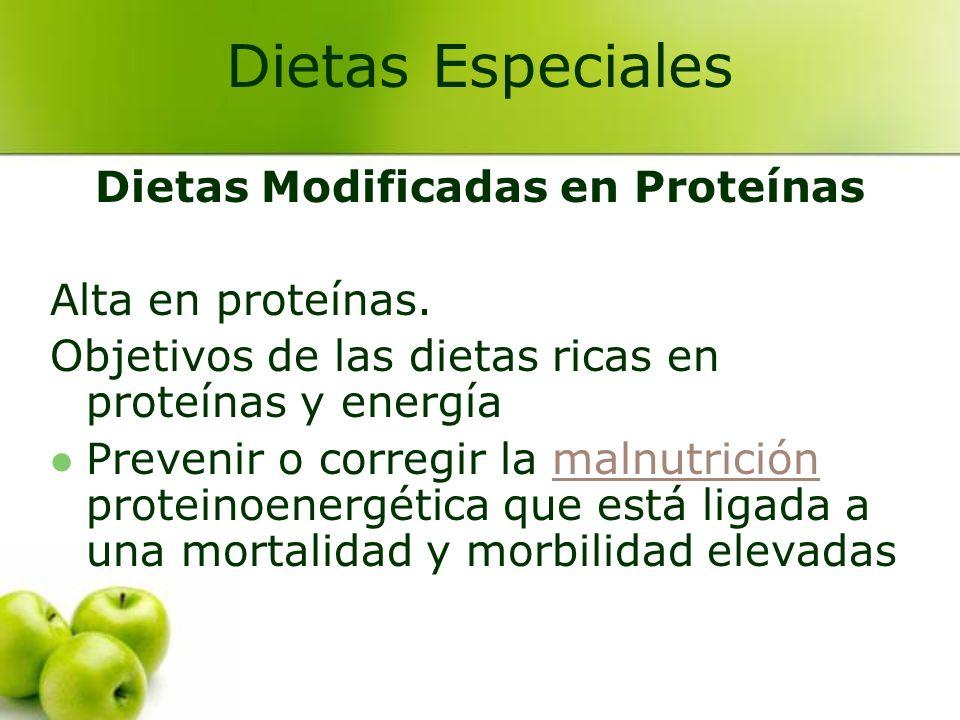 Dietas Modificadas en Proteínas