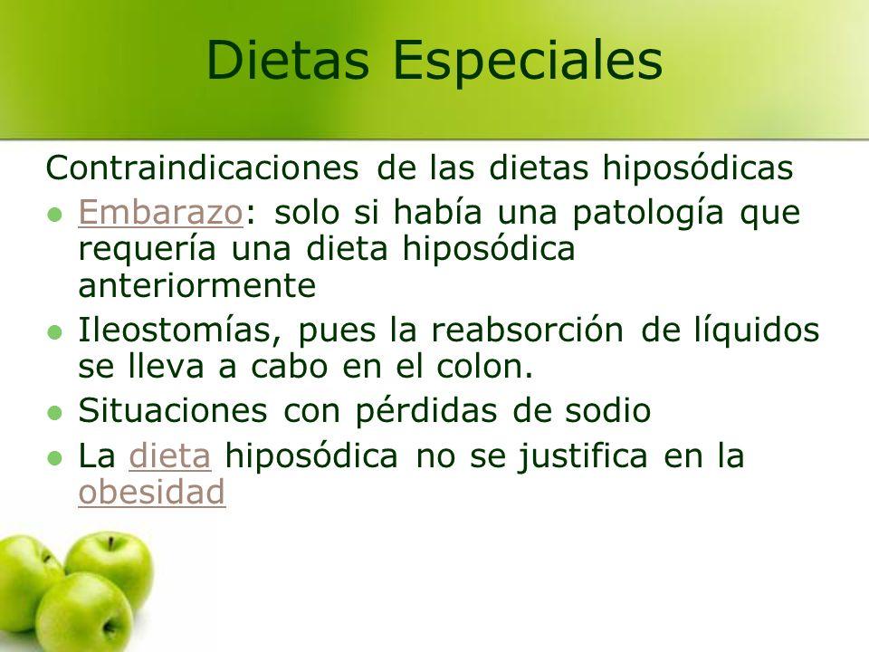Dietas Especiales Contraindicaciones de las dietas hiposódicas