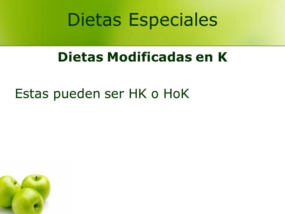 Dietas Modificadas en K